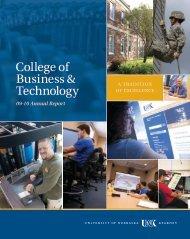 College of Business & Technology - The University of Nebraska ...