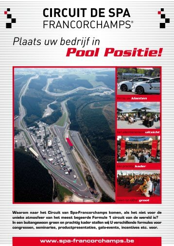 Introductie / informatie pakket - Circuit de Spa Francorchamps