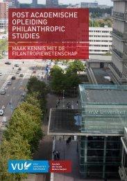 brochure - Faculteit der Sociale Wetenschappen, Vrije Universiteit ...
