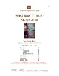 WHAT NOW, TILDA B? Kathryn Lomer - University of Queensland ...