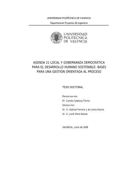 agenda 21 local y gobernanza democrática para el desarrollo