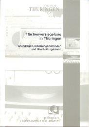 Flächenversiegelung in Thüringen - Thüringer Landesanstalt für ...