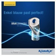 Enkel blauw past perfect! - Gustav Klauke GmbH