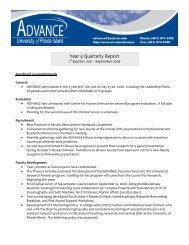 Year 4 Quarterly Report - University of Rhode Island