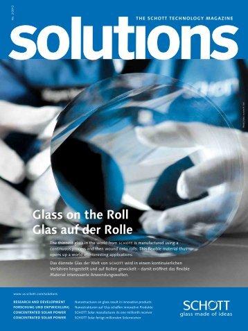 Glass on the Roll Glas auf der Rolle - SCHOTT North America