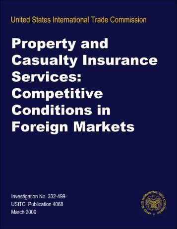 Competitive Conditions in Foreign Markets - USITC