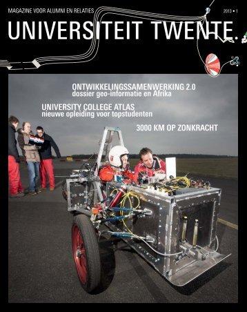 Relatiemagazine UT 2013, nr 1 - Universiteit Twente