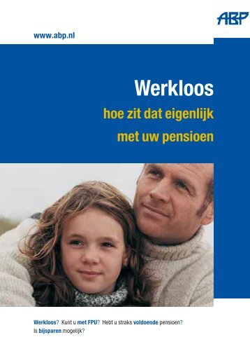 Werkloos en pensioen