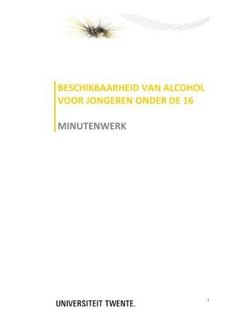 Beschikbaarheid alcohol voor jongeren onder de 16 - Universiteit ...
