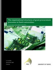 The organizational structures of grant procurement processes in ...