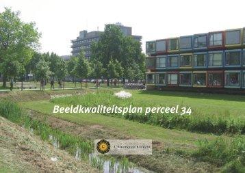 Beeldkwaliteitsplan Kavel 34, Bolognalaan - Universiteit Utrecht