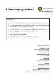 Advies uitgebracht aan college van bestuur - Universiteit Utrecht