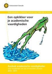 Een opkikker voor je academische vaardigheden - Universiteit Utrecht