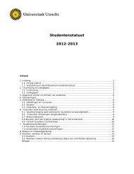 Studentenstatuut 2012-2013 - Universiteit Utrecht