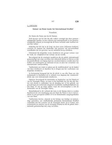 Statuut van Rome inzake het Internationaal Strafhof Preambule De ...