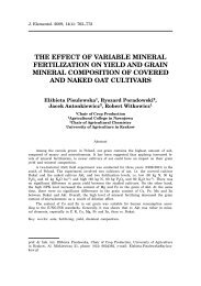 the effect of variable mineral fertilization on yield and grain mineral ...