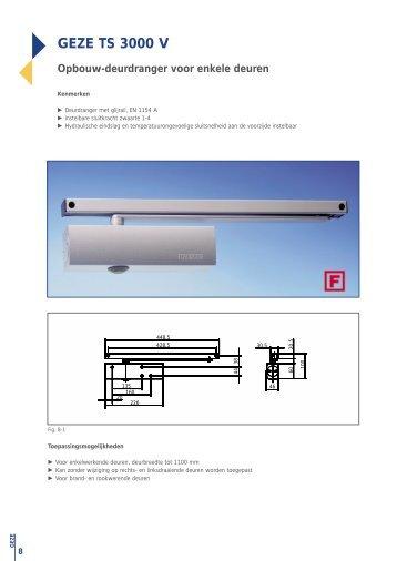 GEZE TS 3000 V - V3S Glass Systems