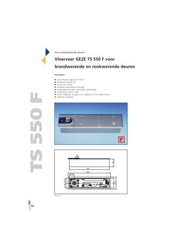Vloerveer GEZE TS 550 F voor brandwerende en rookwerende ...