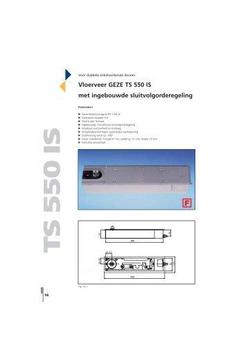 Vloerveer GEZE TS 550 IS met ingebouwde sluitvolgorderegeling
