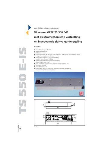Vloerveer GEZE TS 550 E-IS met elektromechanische vastzetting en ...