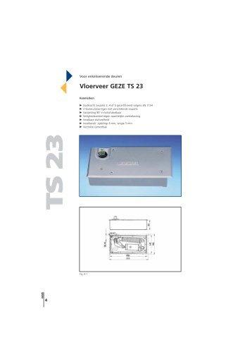 Vloerveer GEZE TS 23 - V3S Glass Systems