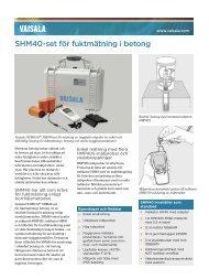 SHM40-set för fuktmätning i betong - Vaisala
