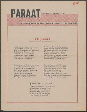 Paraat nr. 15 en 16 - Vakbeweging in de oorlog