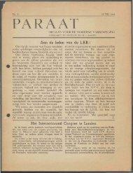 (mei 1945) nr. 3 - Vakbeweging in de oorlog