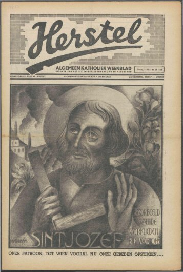 Herstel (1940) nr. 28 - Vakbeweging in de oorlog
