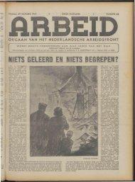 Arbeid (1943) nr. 25 - Vakbeweging in de oorlog