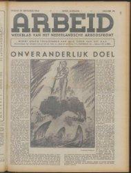 Arbeid (1943) nr. 22 - Vakbeweging in de oorlog