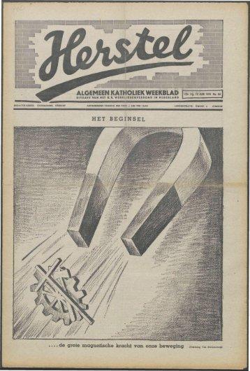Herstel (1941) nr. 24 - Vakbeweging in de oorlog