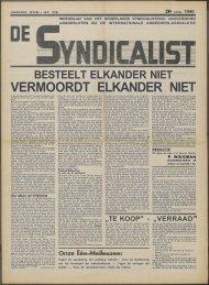 BESTEELT ELKANDER NIET - Vakbeweging in de oorlog