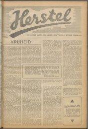 Herstel (1945) nr. 14 - Vakbeweging in de oorlog