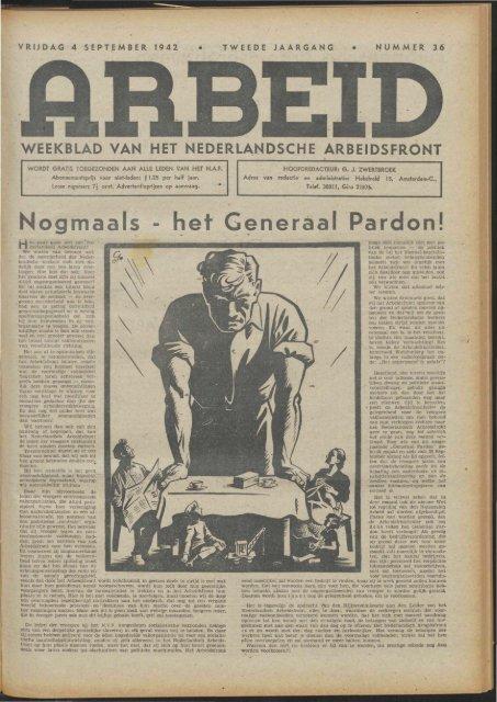 Arbeid (1942) nr. 36 - Vakbeweging in de oorlog