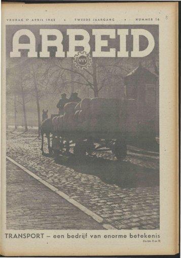 Arbeid (1942) nr. 16 - Vakbeweging in de oorlog
