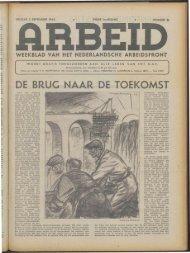 Arbeid (1943) nr. 21 - Vakbeweging in de oorlog