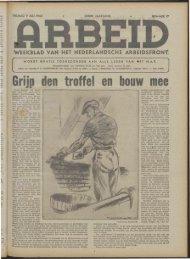 Arbeid (1943) nr.17 - Vakbeweging in de oorlog