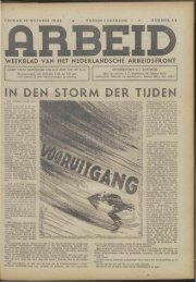 Arbeid (1942) nr. 42 - Vakbeweging in de oorlog