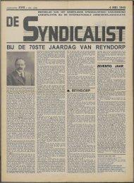 De syndicalist nr. 45 - Vakbeweging in de oorlog