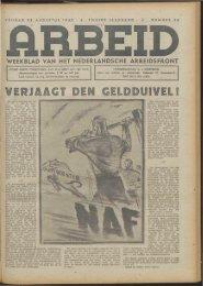 Arbeid (1942) nr. 35 - Vakbeweging in de oorlog