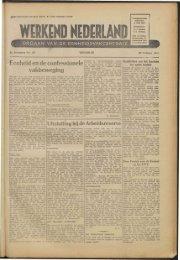 Werkend Nederland (1945) nr 29 - Vakbeweging in de oorlog