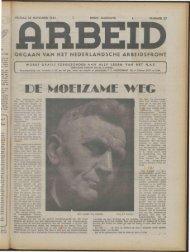 Arbeid (1943) nr. 27 - Vakbeweging in de oorlog