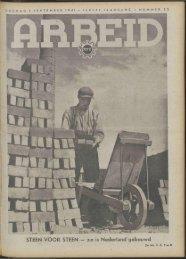 Arbeid (1941) nr. 35 - Vakbeweging in de oorlog