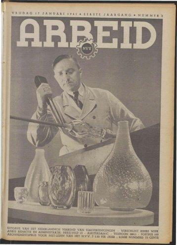 Arbeid (1941) nr. 2 - Vakbeweging in de oorlog