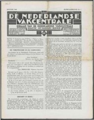 De Nederlandse Vakcentrale (1940) nr. 1 - Vakbeweging in de oorlog