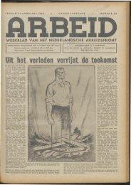Arbeid (1942) nr. 34 - Vakbeweging in de oorlog