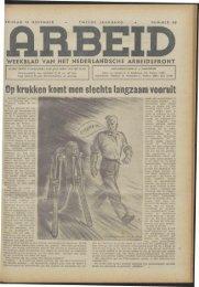 Arbeid (1942) nr. 46 - Vakbeweging in de oorlog