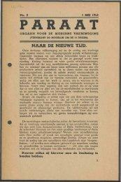 Paraat (mei 1945) nr. 2 - Vakbeweging in de oorlog