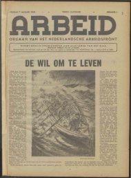 Arbeid (1944) nr. 1 - Vakbeweging in de oorlog